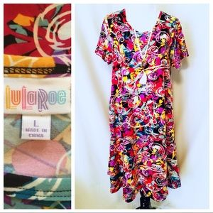 "NWOT ~ Lularoe ""Carly"" Dress - Size Large"